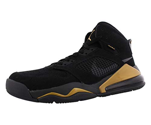 Tênis de basquete masculino Jordan Nike Air Mars 270 DMP preto metálico dourado CD7070-007, Black / Anthracite-metallic Gold, 11