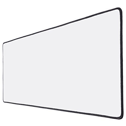 extended gaming mouse pad white