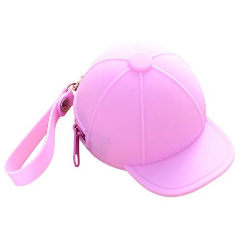 SDGDFXCHN 1 Stück Mini Carino Moneta Hochwertige Tasche aus Silikon Baseballcap Form Tasche 11 * 8.2 * 7.5cm violett