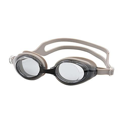 PJRYC Gorra de natación, Gafas, Gafas Anti-Niebla, Tapones para los oídos, Equipo de Piscina, Gafas de Buceo Deportivas (Color : Gray)