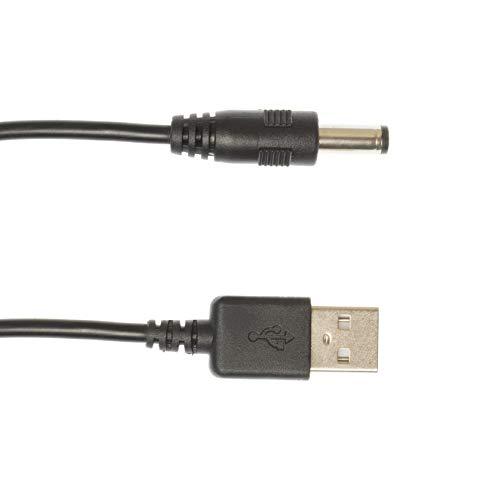 Kingfisher Technologie 90cm USB 5V 2A PC Schwarz Ladegerät Power Kabel Adapter (22AWG) für MINIRIG Subwoofer V2Bluetooth-Lautsprecher