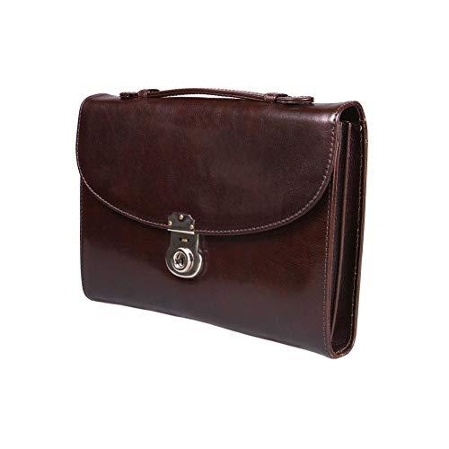 SAGEBROWN Brown Vintage Windsor Briefcase