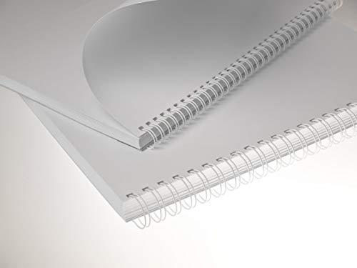 Renz Ring Wire Drahtkamm-Bindeelemente in 3:1 Teilung, 34 Schlaufen, Durchmesser 8.0 mm, 5/16 Zoll, weiß