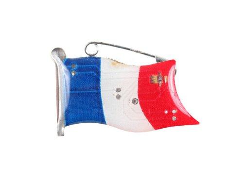 Blinki LED Anstecker Blinky Brosche LED Pin Button viele Motive, wählen:Flagge Frankreich 101