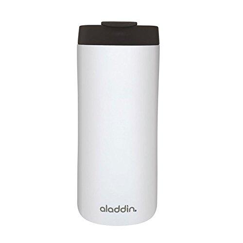 Aladdin Edelstahl-Thermobecher, 0.35 Liter, Weiß, Doppelwandig Vakuumisoliert, Auslaufsicher, Spülmaschinenfest, Kaffeebecher Isolierbecher Thermo-Becher