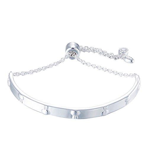 silverage pulsera ajustable Plata 925conejo