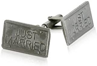 Just Married Cufflinks Wedding Bride and Groom Cuff Links