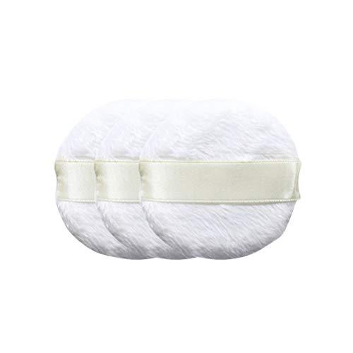 Frcolor 3 Stücke Weiche Flauschige Puffs Weiße Schwamm Puff Runde Kosmetische Puderquaste Kleinkind Körper Abstauben Puder Puffs