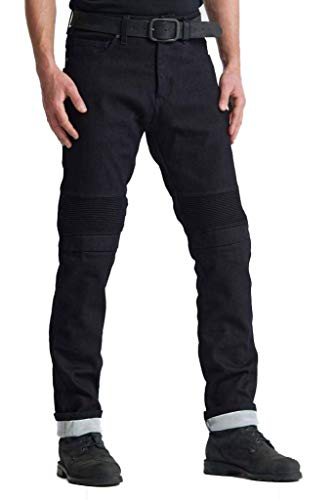 Pando Moto Karl Steel Black Single Layer Motorcycle Jeans with Dyneema CE Approved Motorbike Trousers