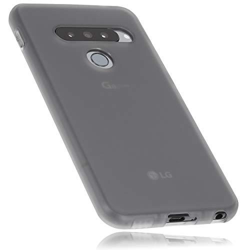 mumbi Hülle kompatibel mit LG G8s ThinQ Handy Hülle Handyhülle, transparent schwarz