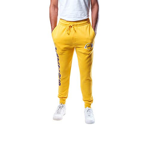 Ultra Game Men's NBA Jogger Pants Active Basic Soft Terry Sweatpants VSF5166M, Los Angeles Lakers, Team Color, XX-Large