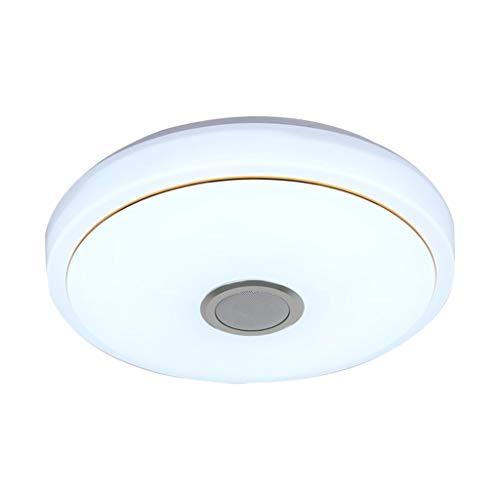 #N/a Luces de techo Led con Altavoz Bluetooth, luz cambiante de Color RGB de 36W con Control remoto y aplicación, luz regulable para baño, cocina, pasillo