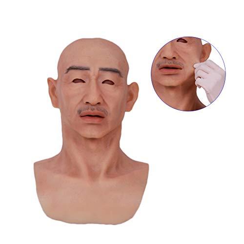 NACHEN Real Mask Master Realistische Künstliche Silikon Halloween Erwachsener Mann Maske Männlichen Latex Vollgesichts Party Masken Cosplay Fetisch