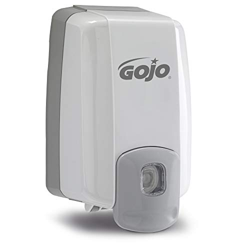 GOJO NXT Maximum Capacity Push-Style Soap Dispenser, Dove Grey, for 2000 mL GOJO NXT Shower or Lotion Soap Refills (Pack of 1) - 2230-08