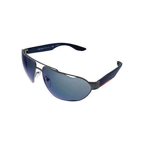 Ray-Ban Herren 0PS 56US Sonnenbrille, Blau (Gunmetal Rubber), 66.0