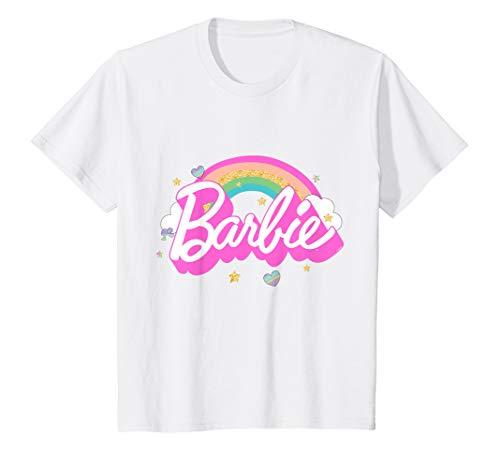 Kinder Barbie T-Shirt, Mädchen, Regenbogen, viele Größen+Farben