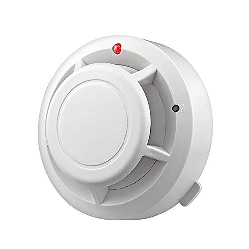 PEXWELL Household Smoke Alarm, Smoke Sensor Wireless Fire Protection Independent Fire Detector for Home Schools Hotels Warehouses