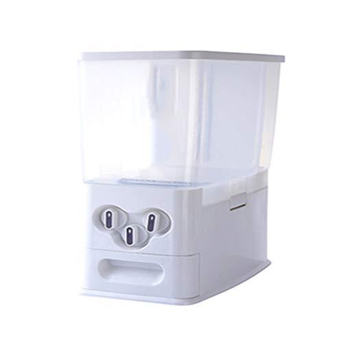 Aufsatz-Getreidespender, Reisspenderbehälter, Bohnenaufbewahrungsbehälter, für Getreide, Getreide, Nüsse, Mehl, Schokoladenbohnen, Snacks, Halbschalen-Design, Staub und Feuchtigkeit, leichter Zugang,