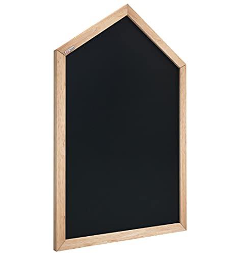 ALLboards Kreidetafel Magnetisch Häuschen Hausform Haus mit Naturholzrahmen 90x60cm, Magnetische Tafel Whiteboard für Kinder Magnettafel für Kinderzimmer in Hausform Schwarz, Kreide, Memoboard