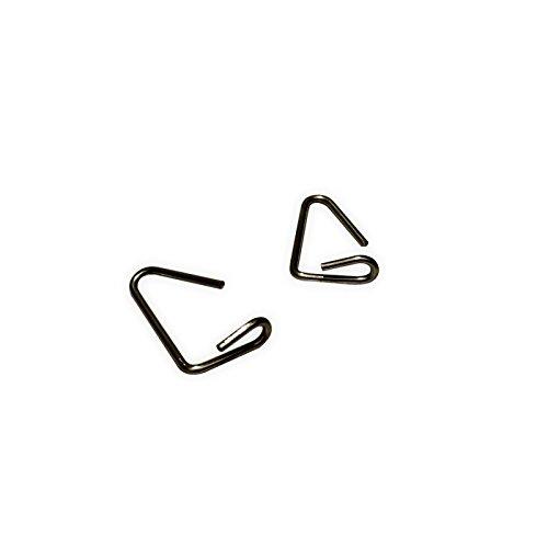100 Stück DIWARO Maxi-Arretierungsklammer für Kunststoff-Rolladenprofil Aalen zur Sicherung gegen seitliches verschieben. Für Deckbreite 55 und einer Nenndicke von 14 mm verzinkt (100)