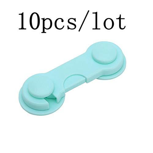 Baby proofing, 2 stks / 10 stks / 5 stks/partij baby bescherming baby veiligheidsslot kind veiligheid kinderdeur plastic ladekast koelkast raam kast, 10 stks groen