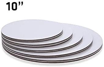 "10"" Inch White 100 Qty, Round Cardboard Cake Board"