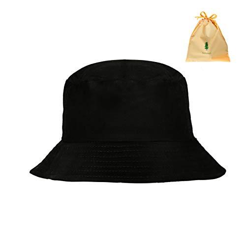 Bucket Hat Fischerhüte 56-58cm Baumwolle Unisex Faltbar Anglerhut zum Jagen Wandern Camping Reisen Angeln