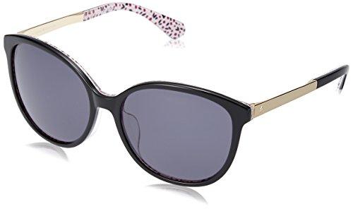 Kate Spade KS Karlena/F/S UYY Gafas de sol de plástico negro ojo de gato lente gris degradado