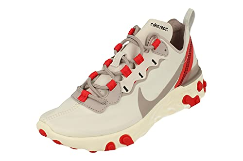Nike React Element 55 Mujeres Running Trainers BQ2728 Sneakers Zapatos (UK 4.5 US 7 EU 38, Platinum Tint Silver Lilac 010)