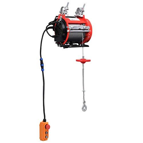 vidaXL Polipasto Eléctrico para Andamios Cabrestante Elevador Trabajos de Elevación Talleres Garajes Almacenes Montacargas 500 kg 230 V