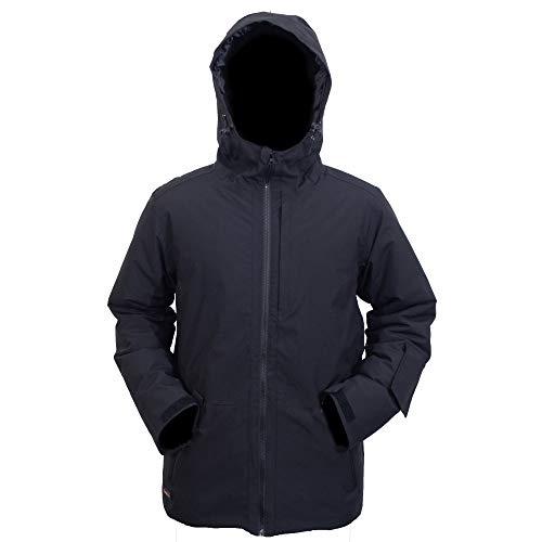 Alpine Swiss Mens Waterproof Ski Jacket Hooded Snowboarding Coat Warm Winter Snow Jacket Raincoat Black S