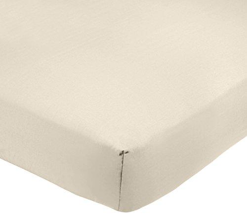 Amazon Basics AB 200TC Poly Cotton, Combinación de algodón, Crema, 135 x 190 x 30 cm