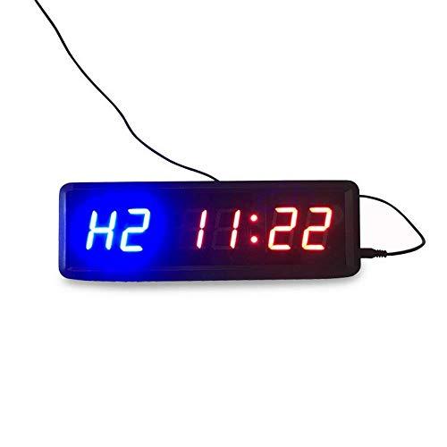 Shelf Gimnasio Timer Gimnasio Reloj para el hogar Gimnasio 1.5 'Cuenta atrás de caracteres de alto rendimiento / arriba Reloj de control remoto Operación de la pared Reloj despertador (Color: Negro, T