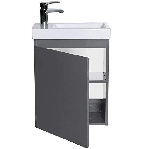 YIZHE Badmöbel mit Unterschrank Waschtisch,Waschtisch,Schrank,Spiegel WC,Platzsparende,Waschplätze,Waschbecke nunterschrank,Gäste Toilette,Schrank