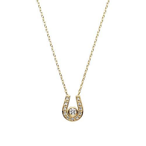 [ヴァンドーム青山] イエローゴールド ネックレス AGVN650440DI K18 ホースシューダイヤモンドネックレス