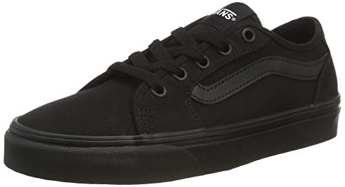 Vans Damen WM Filmore Decon Sneaker, Schwarz ((Canvas) Black/Black 186), 41 EU