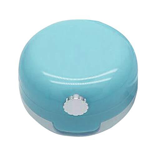 Bonarty Vides Pots Cosmétiques Récipient de Verre Pots Voyage pour Crème Paillette Maquillage Poudreavec Miroir - Bleu