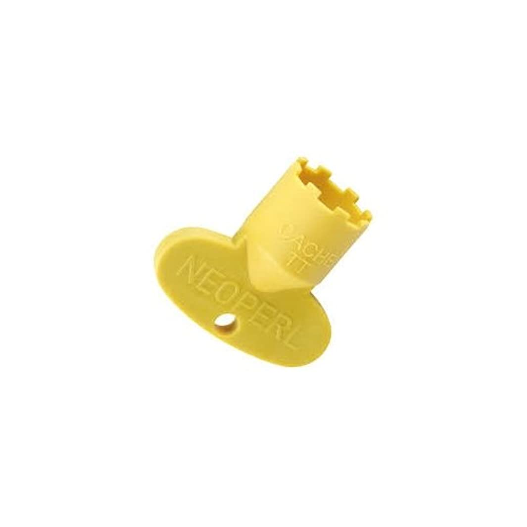 Neoperl 11 9040 5 Tom Thumb Cache Key for Tom Thumb Size Cache Aerators, Yellow Color, Plastic