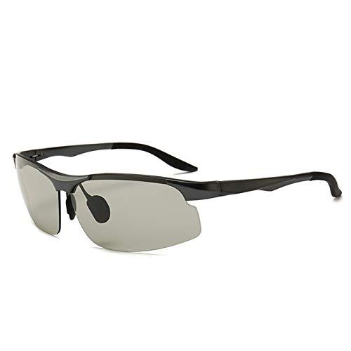 ZTLY Gafas de Sol polarizadas de aleación de aleación de Aluminio polarizado de Color de Color Gafas de Ciclismo de Deportes al Aire Libre,A