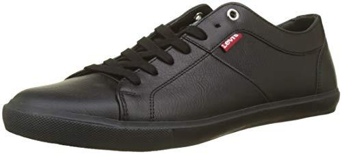 Levi's Woods, Zapatillas para Hombre, Negro (Brillant Black 60), 41 EU
