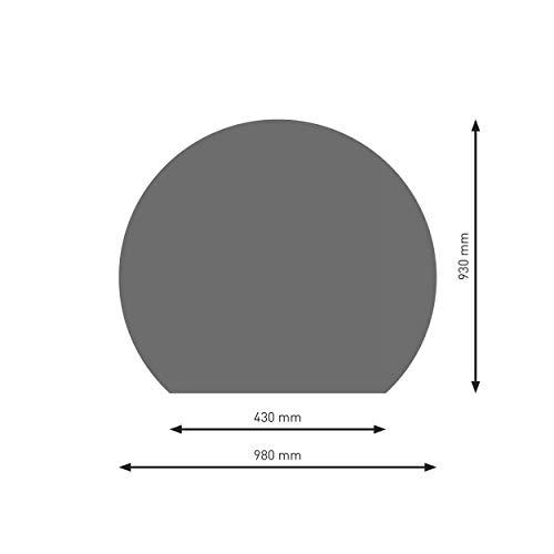 Schindler + Hofmann PU075-2B7-gg Bodenplatte B7 Kreisabschnitt gussgrau pulverbeschichtet 980 x 930 mm