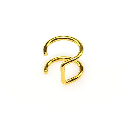 FXC 1 STKS Clip Op Wrap Oorbel Tragus RVS 2 Ringen Oor Manchet Clip neus ring Nep Piercing Body Sieraden