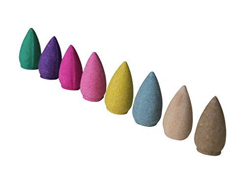 Preisvergleich Produktbild Räucherkegel gemischte Düfte / Farben (100 Stück) Natürlicher Duft Räucherkegel,  Duft: Rose,  Jasmin,  Lavendel,  Sakura