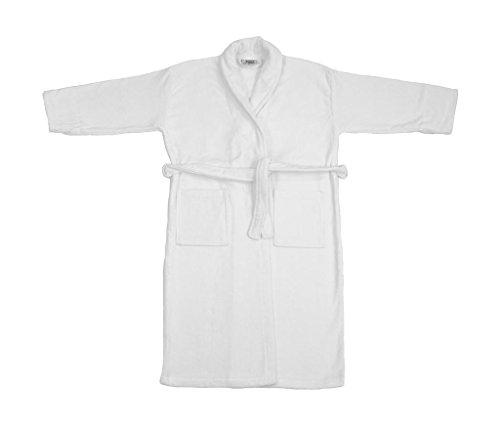 adidas Damen Como Velours Bademantel Trilby, Weiß (White 000), Medium...