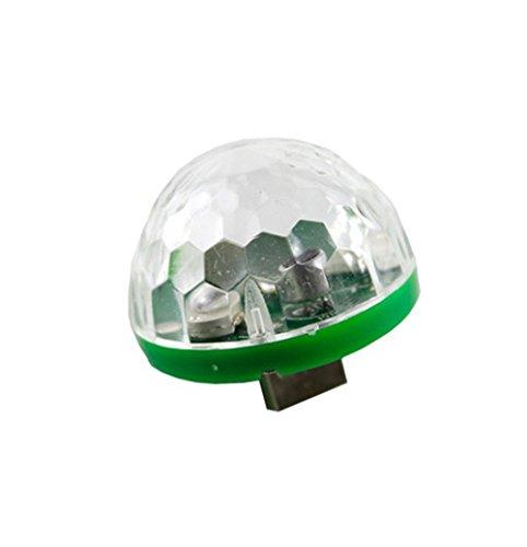 DEESEE(TM) NewUSB Mini LED RGB Disco Stage Light Party Club DJ KTV Xmas Magic Phone Ball Lamp Green