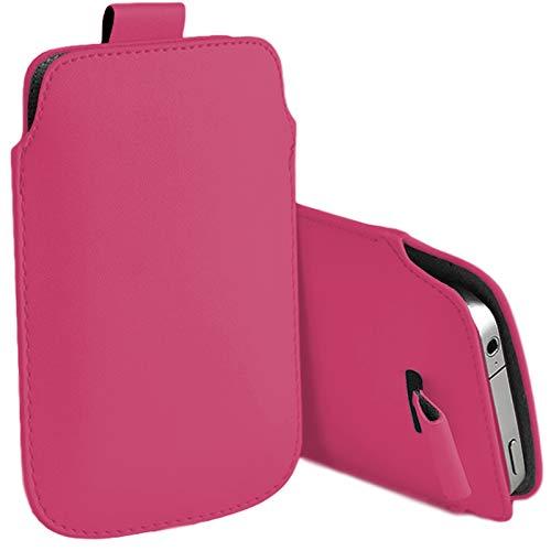 MOELECTRONIX Hülle passend für Caterpillar Cat S41 | Slim Schutz Tasche Smartphone Schutzhülle mit Lasche | 1A PINK