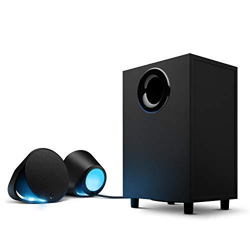 Logitech G560 PC Sistema di Speakers per Gaming, con DTS: X 7.1 Suono Ultra Surround, LIGHTSYNC RGB, Due Altoparlanti e Subwoofer, Esperienza di Gioco Immersiva, Nero