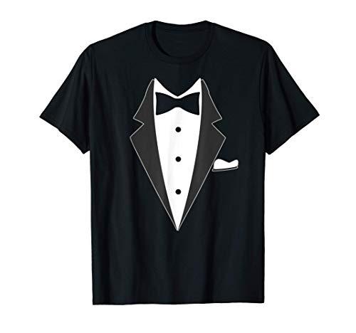 fake Smoking, Anzug mit Fliege Geschenk T-Shirt