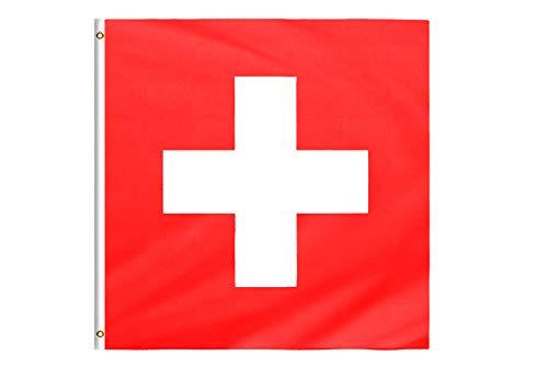 Star Cluster 90 x 90 cm quadratisch Fahne und Wappen der Schweiz/Schweiz Flagge/Drapeau Suisse/Flag of Switzerland (CH 90 x 90 cm)