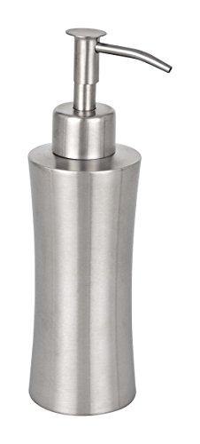WENKO 16739100 Seifenspender Pieno, Fassungsvermögen 0.165 L, Edelstahl rostfrei, 8 x 19.5 x 7 cm, Satiniert